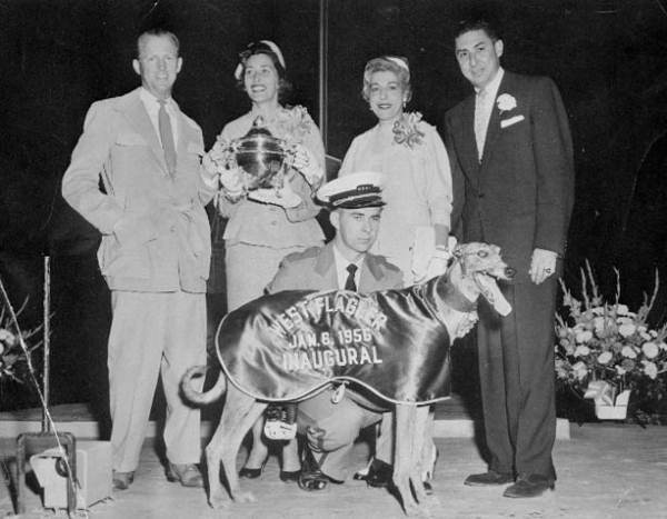 First-inaugural-100000-at-West-Flagler-Kennel-Club-in-1956