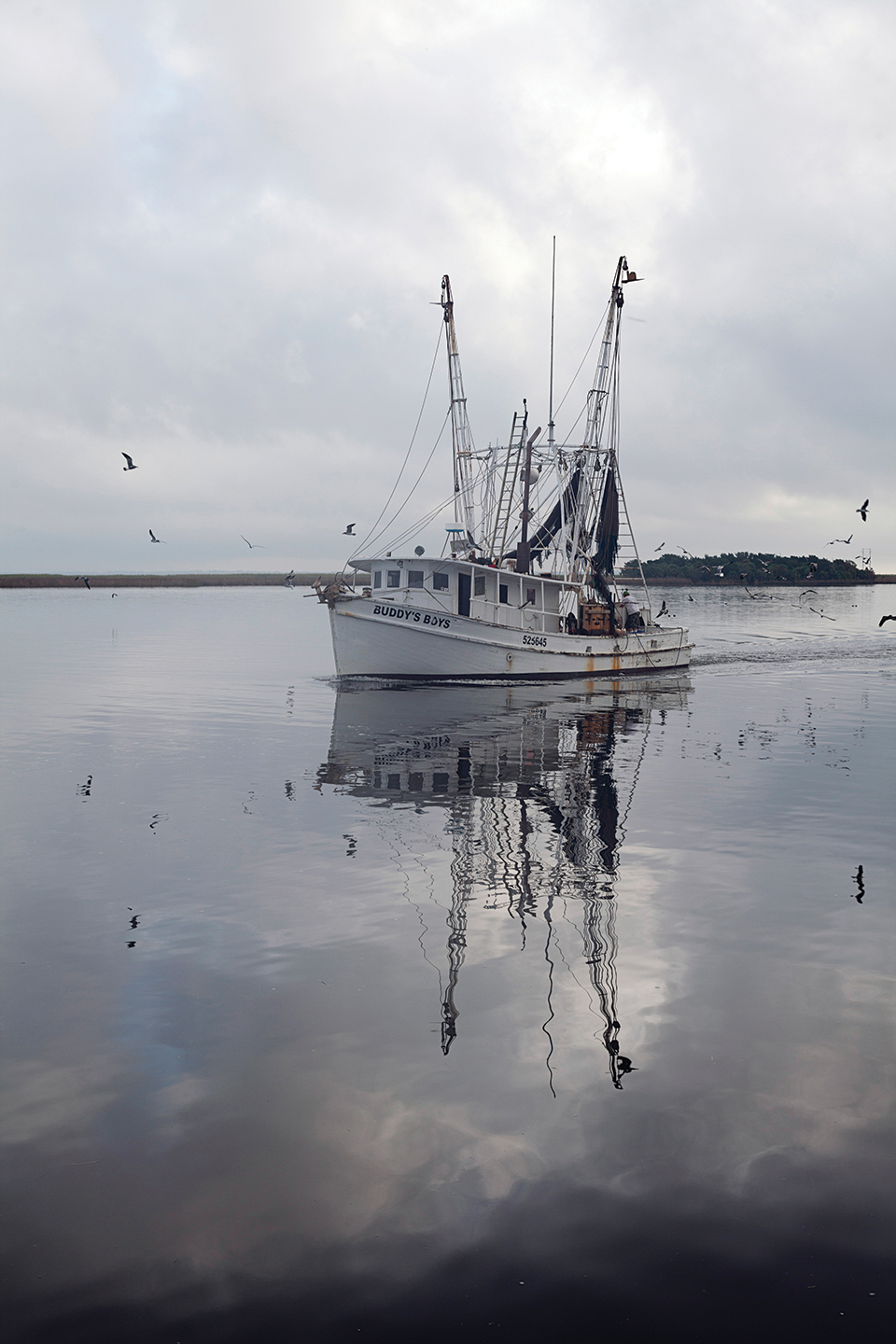 A shrimp boat on the Apalachicola River (photo by Jeremiah Stanley)