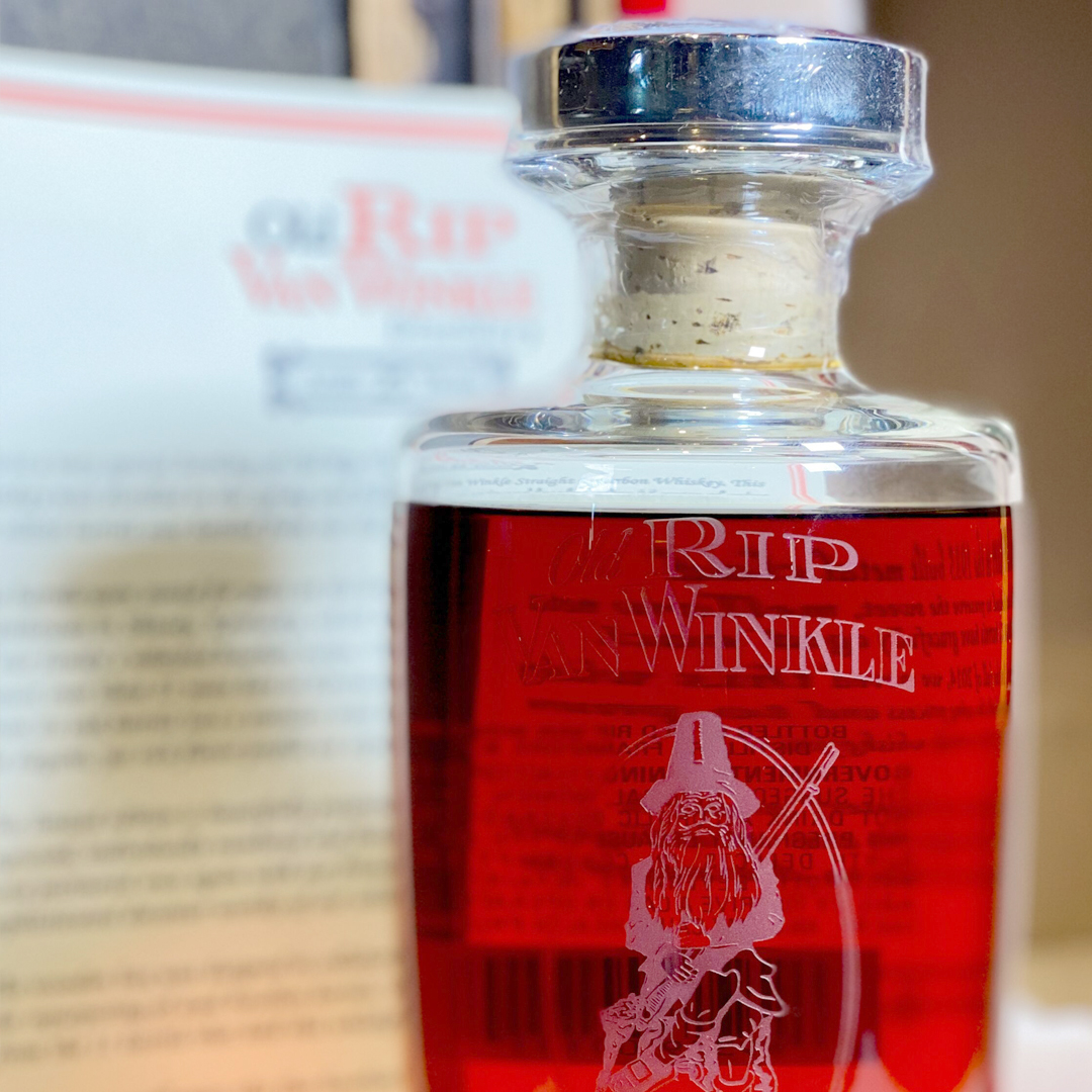 rare 25-year-old bottle of Pappy Van Winkle bourbon.