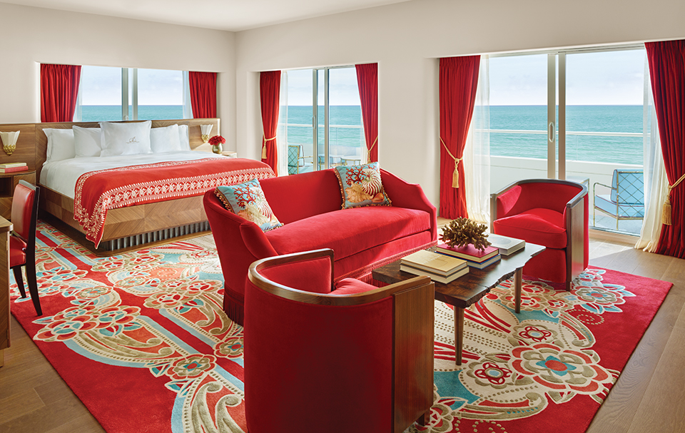 Suite at the Faena Hotel; Photograph by Faena Hotel Miami Beach