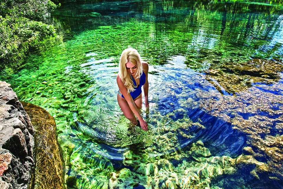 The underground Floridan aquifer, which stretches beneath Central and North Florida, roars through Swiss-cheese caverns of crumbling limestone. Photograph by Jeremiah Stanley