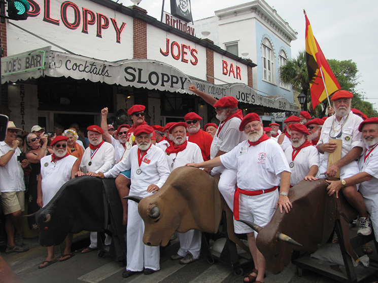 Ernest Hemingway fans celebrate the author's birthday in Key West; Photograph by Sloppy Joe's
