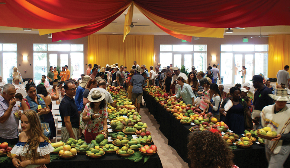 Fairchild's mango auction; Photograph by Fairchild Tropical Gardens