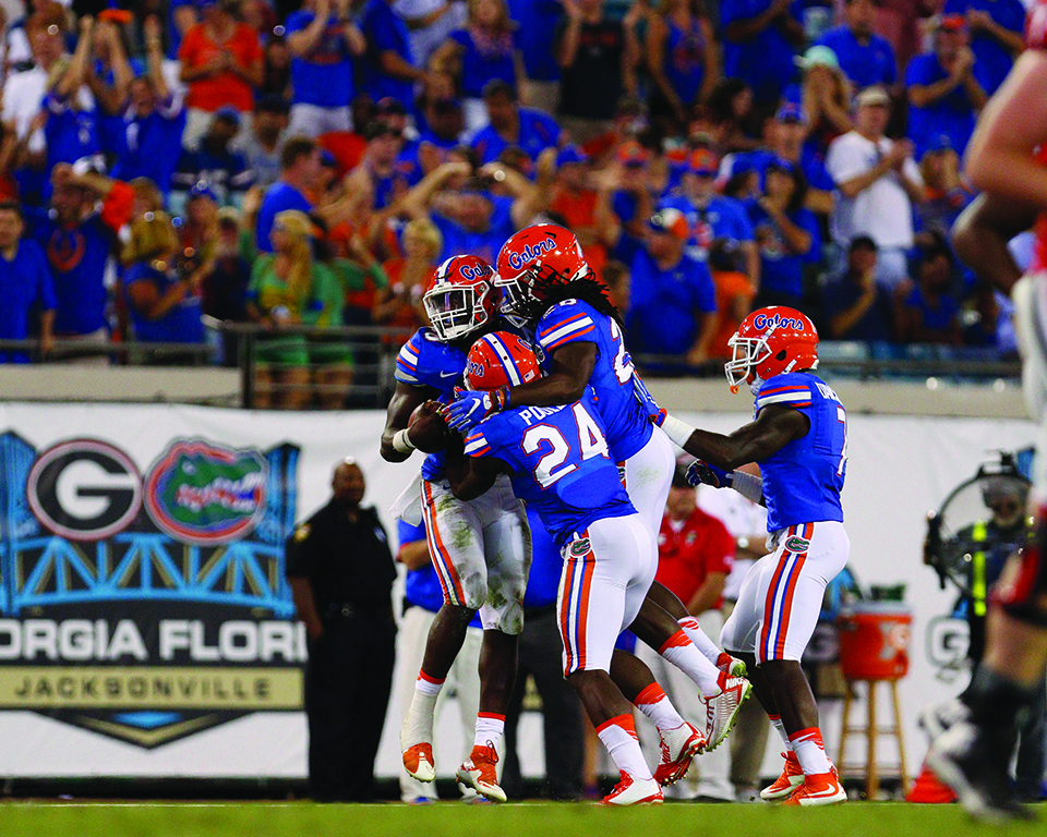 during the Gators' game against the Georgia Bulldogs 2015 at EverBank Field; Photography by Rachel Mowat