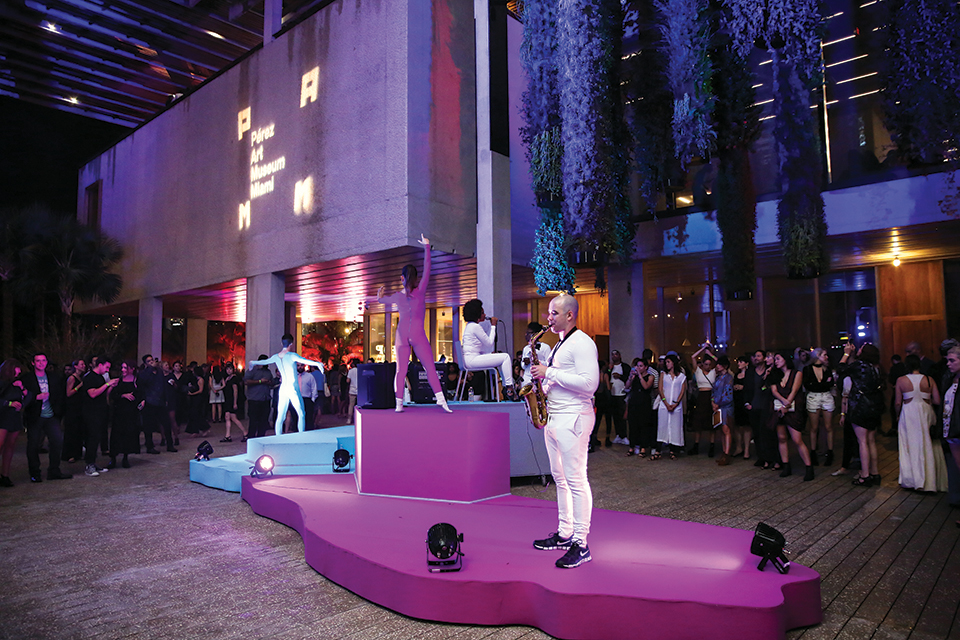 Peformance at PAMM party; Photography by PAMM