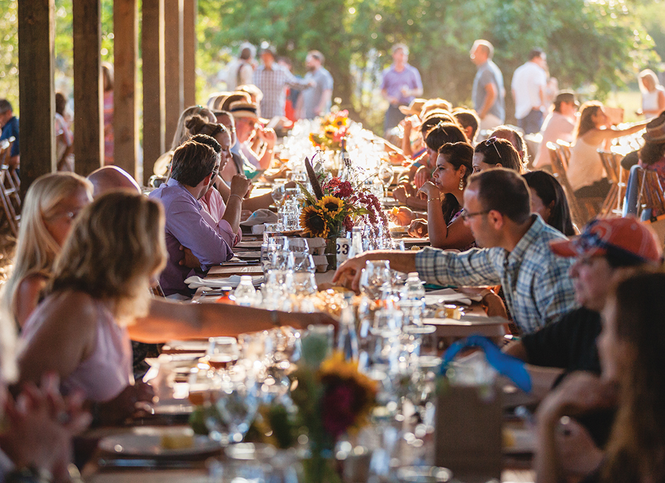In April, 250 guests mingled amongst the wildflowers at the 3 Little Pigs fete; Photography by Gyorgy Papp