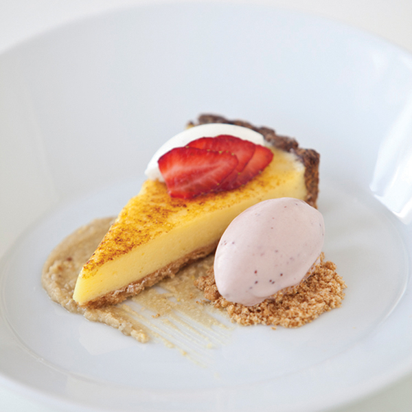 Prato Lemon Curd and Shortbread Torte with Strawberries