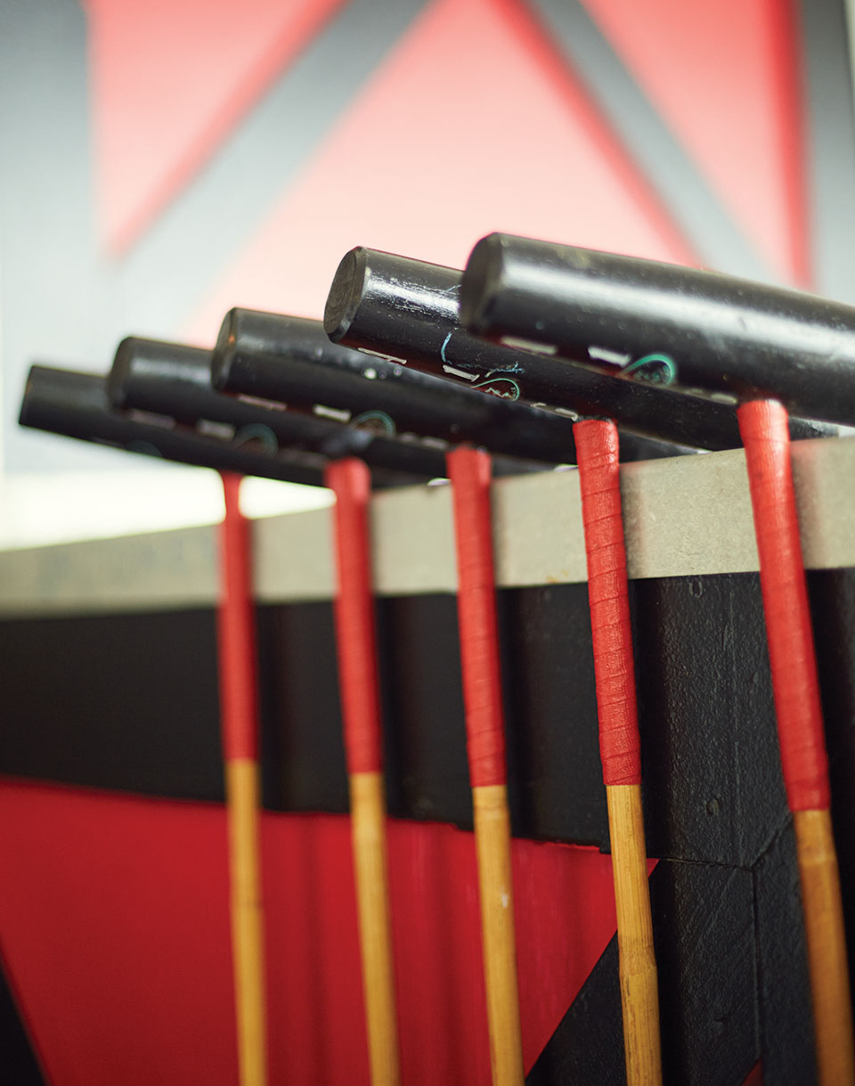 Polo mallets, made of manau, are designed to curve during play. Photography by Mary Beth Koeth