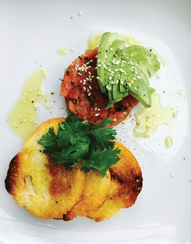Avocado and tomato crostini at The Patio at Polo; Photography by The Patio at Polo