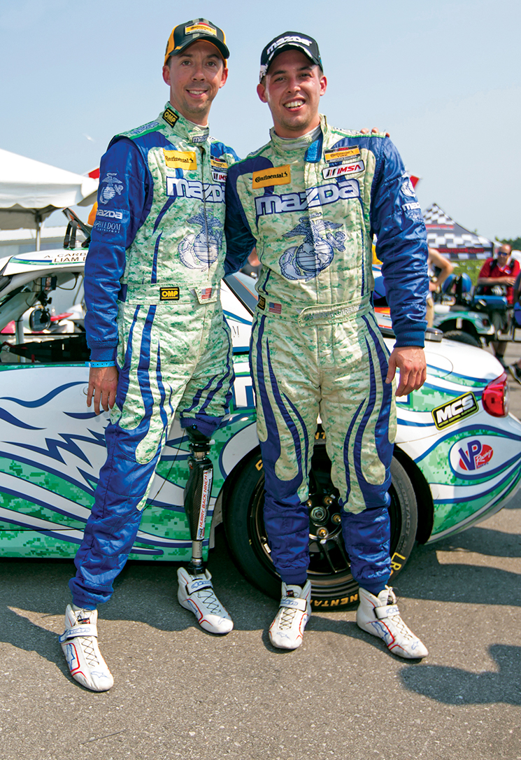 Liam Dwyer and Andrew Carbonell; Photography by Mazda Motorsports