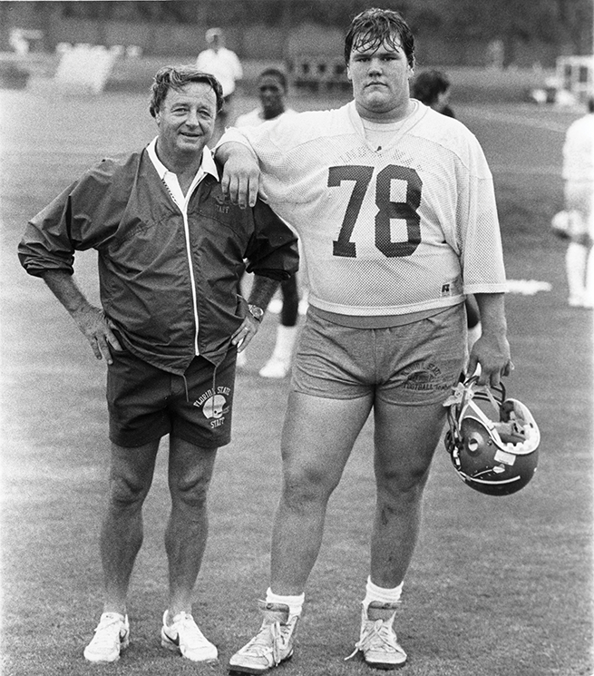 Bowden with Pat Tomberlin, in Tallahassee, 1989; Photography by State Archives of Florida