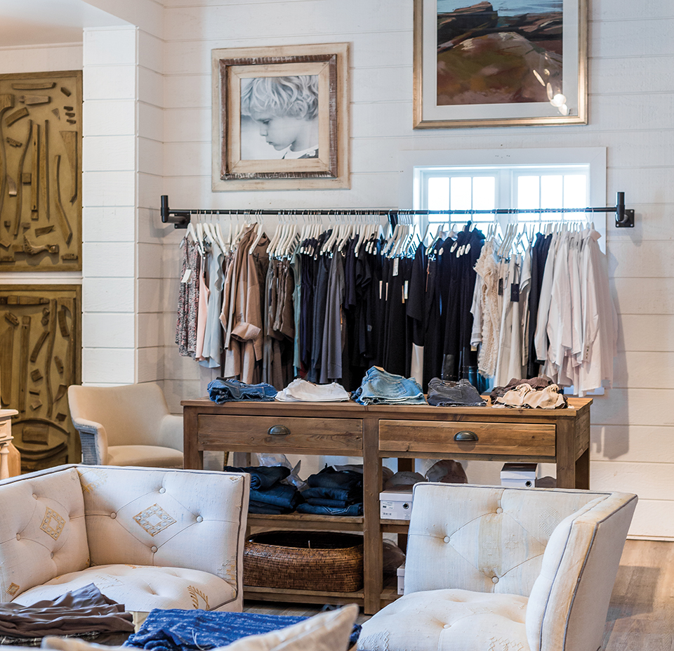 High-end wares—men's and women's clothing; Photography by Duh for Home and Garden