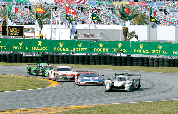 Front runners at the 2017 Rolex 24 in Daytona; Photography by Ben Patch