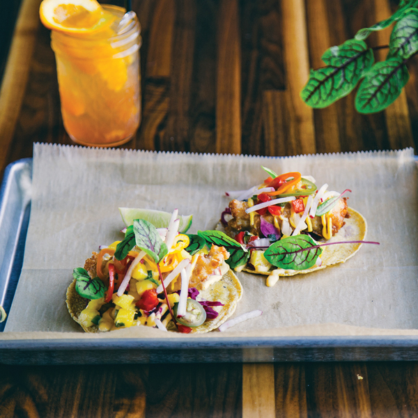 Clay Carnes' friends-approved fish tacos. Photography by Alex Celis