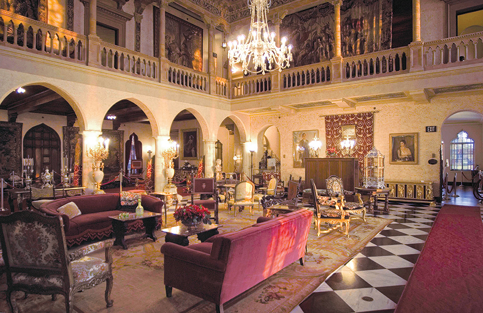The house and furnishings have been completely restored. Photography by John and Mable Ringling Museum of Art
