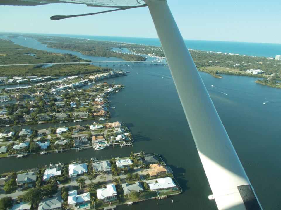 View form Treasure Coast Seaplane; Photography by Terry Ward