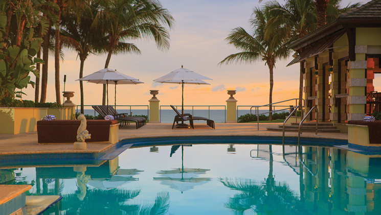 The ocean side pool at the Kimpton Vero Beach Hotel and Spa; Photography by Kimpton Vero Beach Hotel