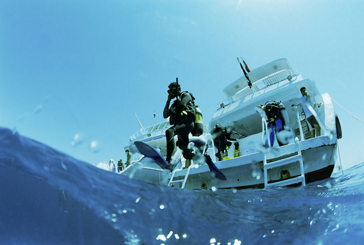The best time to dive is between May and July, when the water is at its peak. Photography iStock