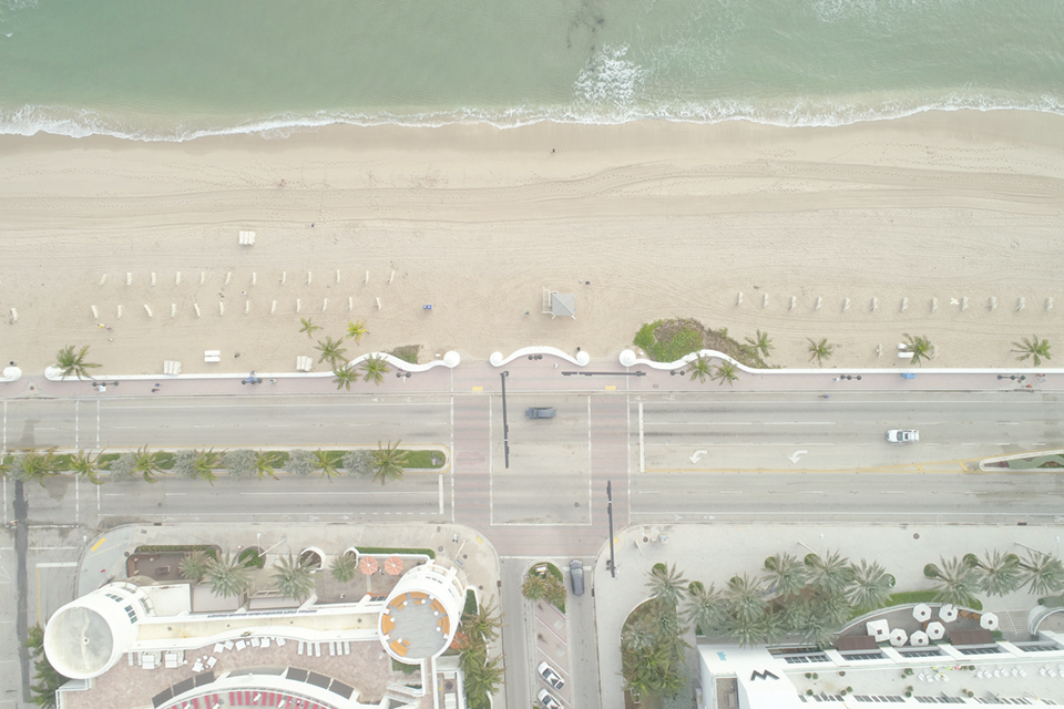 An aerial view of Ft. Lauderdale Beach, which Trip Advisor's 2017 Travelers' Choice ranked No. 11 in the nation for best beaches. Photography by Adobe StockFelix Mizioznikov