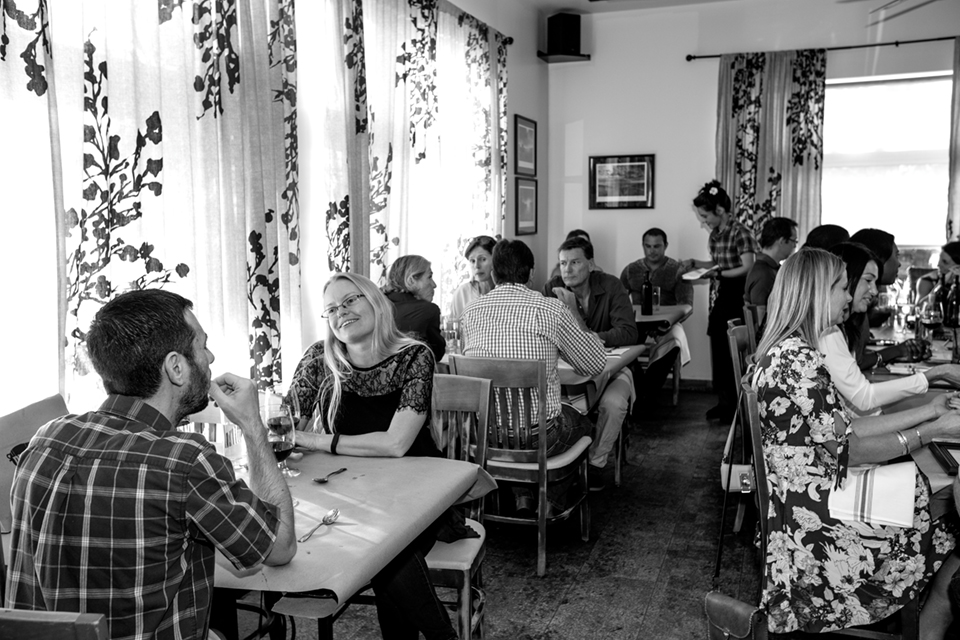 Dining room at District Table and Bar; photo courtesy of Libby Volgyes