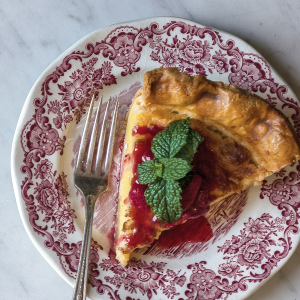 District's buttermilk pie, without embellishments; photo courtesy of Libby Volgyes