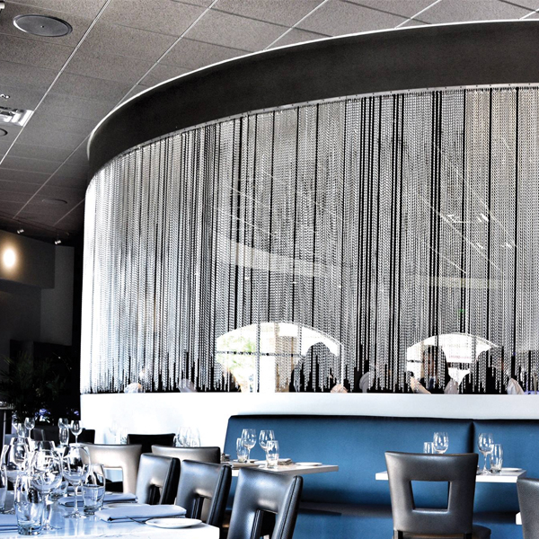 Dine beneath a curtain of crystals at Blu Halo in Tallahassee; Photography by Kevin Soosong