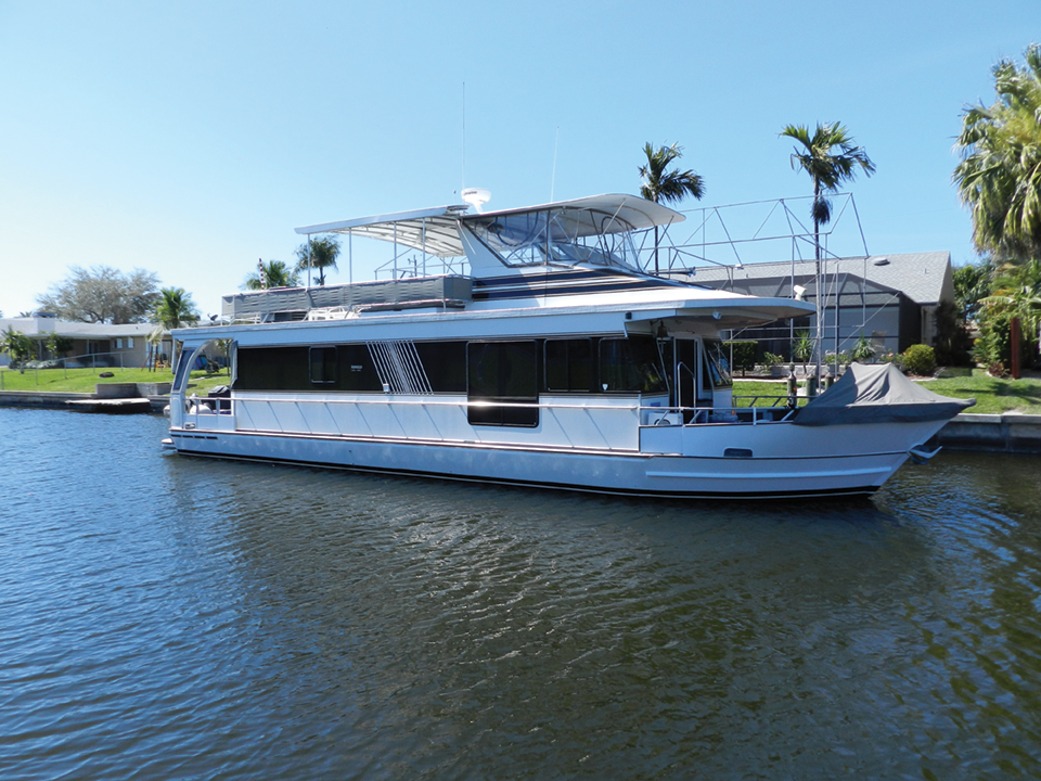 This Fort Myers houseboat is a Monticello of the seas; Photography by Capt. Warren Childers