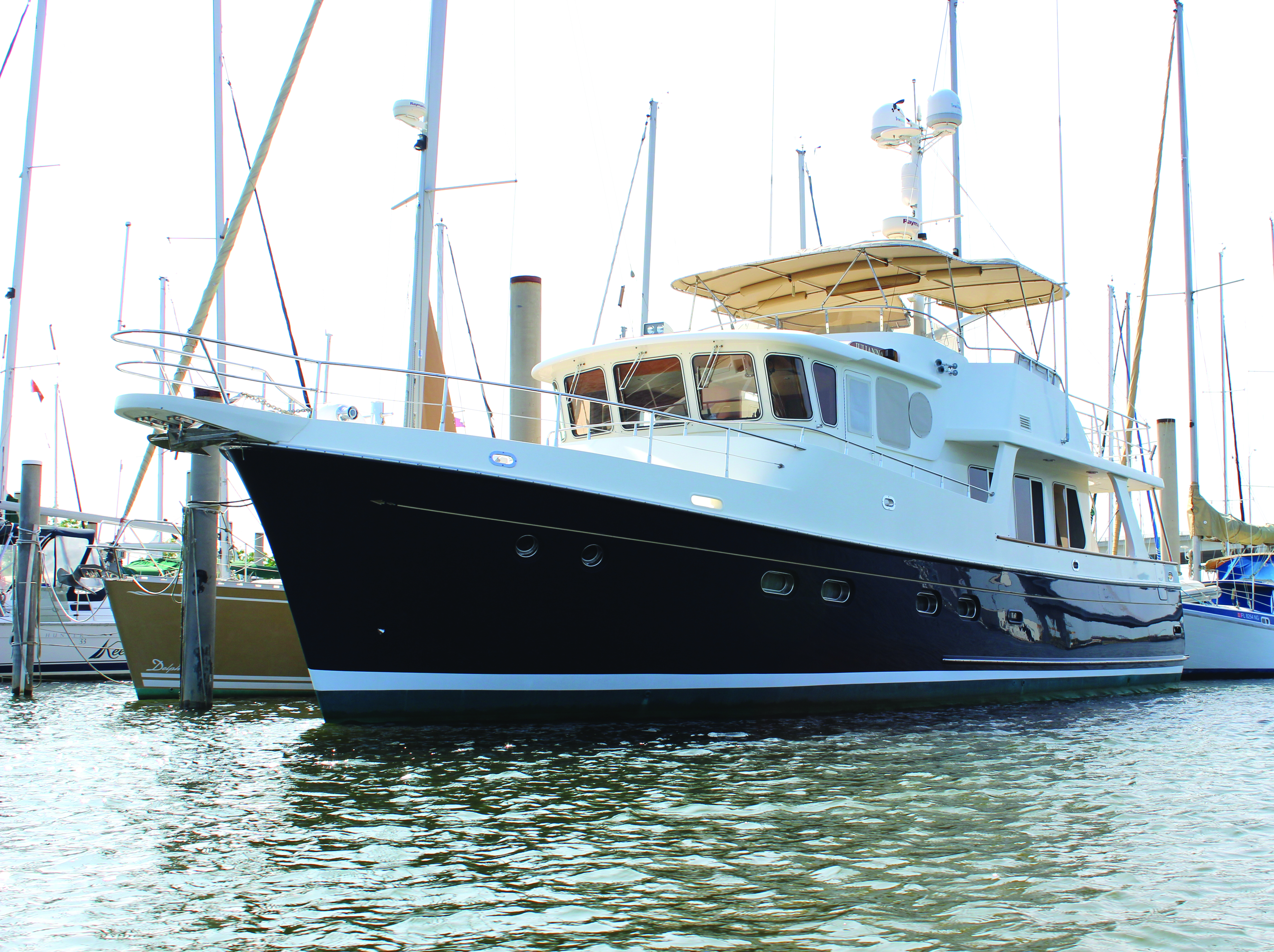 Ride in style with this renovated Pensacola Selene 50 Ocean Trawler; Photography by Picasa