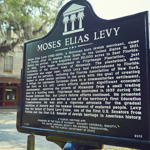 The plaque remembering Levy was erected in Micanopy in 2015. Photography by Mary Beth Koeth