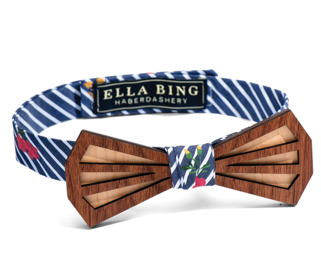 ELLA BING WOODEN BOW TIE NO. 205