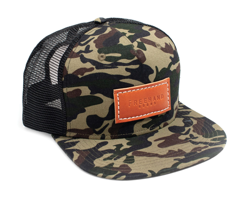 FREEHAND GOODS CAMO TRUCKER 5 PANEL HAT