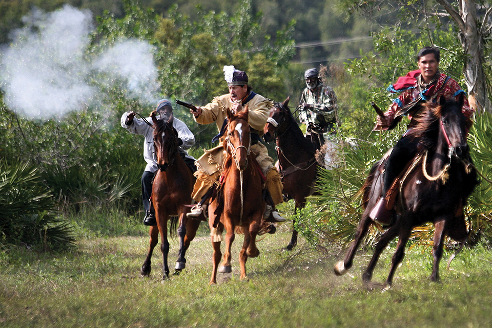 Seminole shootout re-enactments take plance annually in Central Florida
