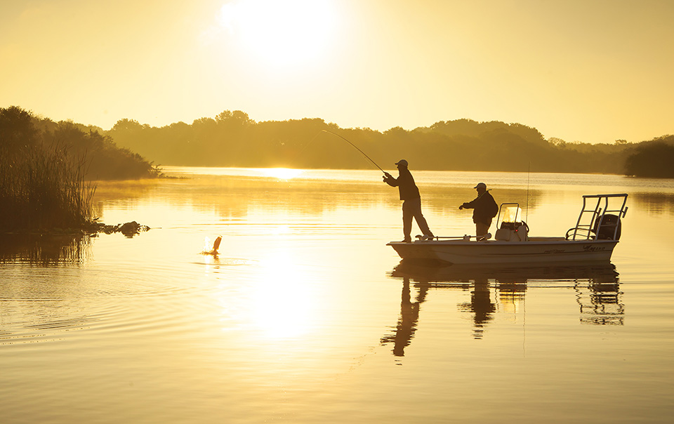 Guided bass fishing is just one of many outdoor pursuits available to guests at Streamsong resort.