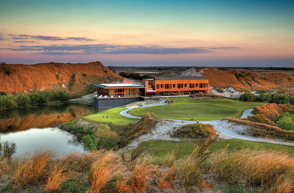 The large dunes around the Streamsong property resulted from 100 years of phosphate mining.