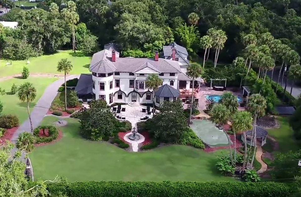 Bird's-Eye view of Florida's historic Stetson Mansion. An updated modern home that still has obvious roots in the past.