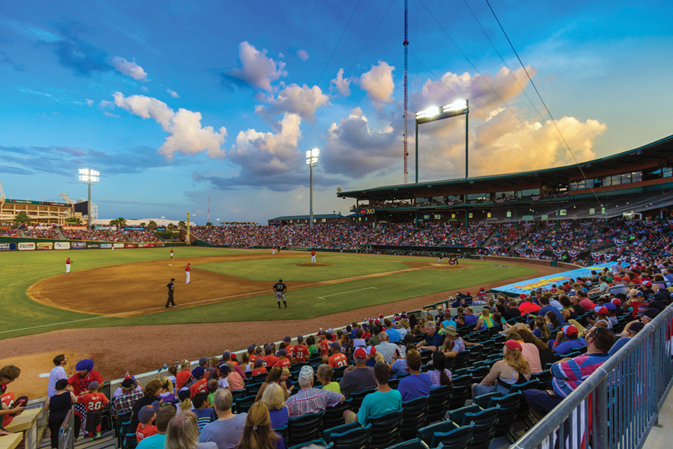 Jumbo Shrimp on their homestead, the Baseball Grounds of Jacksonville.