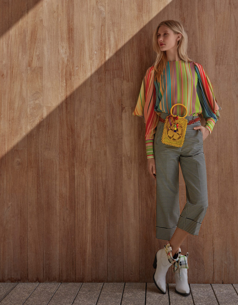 Aiko blouse with Beatrice pant from Tcherassi's pre-fall 2019 collection
