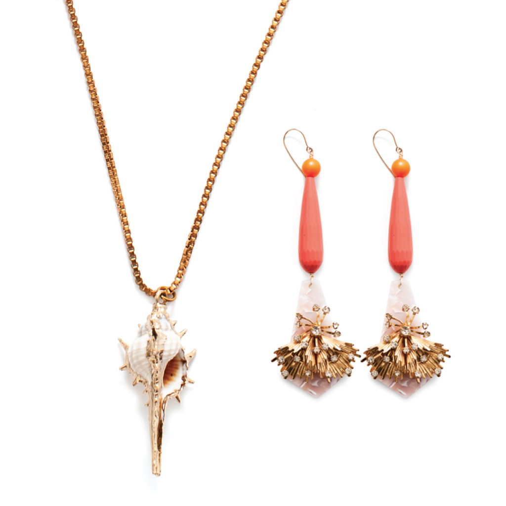 DORA MAE JEWELRY ANGELINA NECKLACE AND CELEBRATE YOUR SHINE EARRINGS