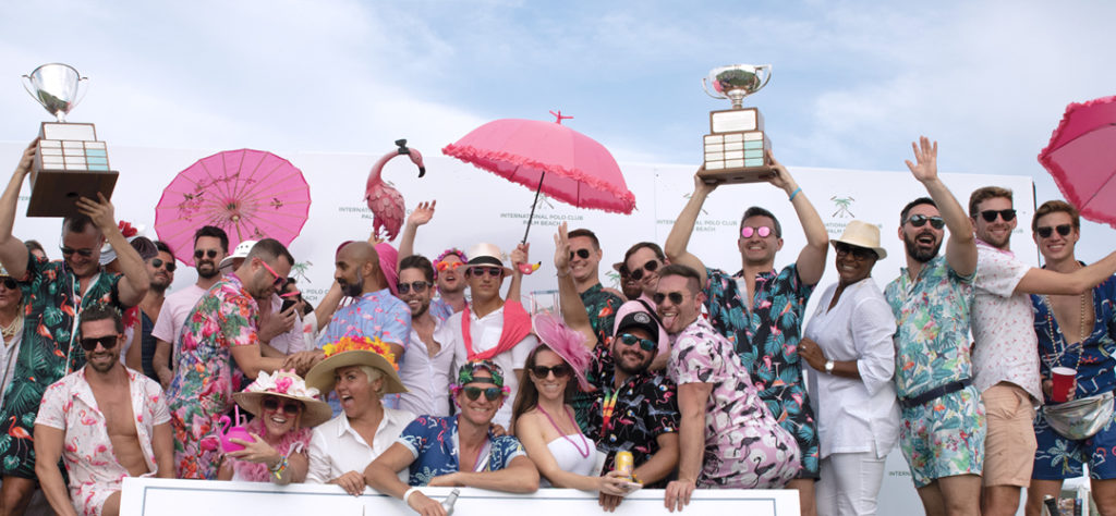 The crowd at the Palm Beach International Gay Polo Tournament
