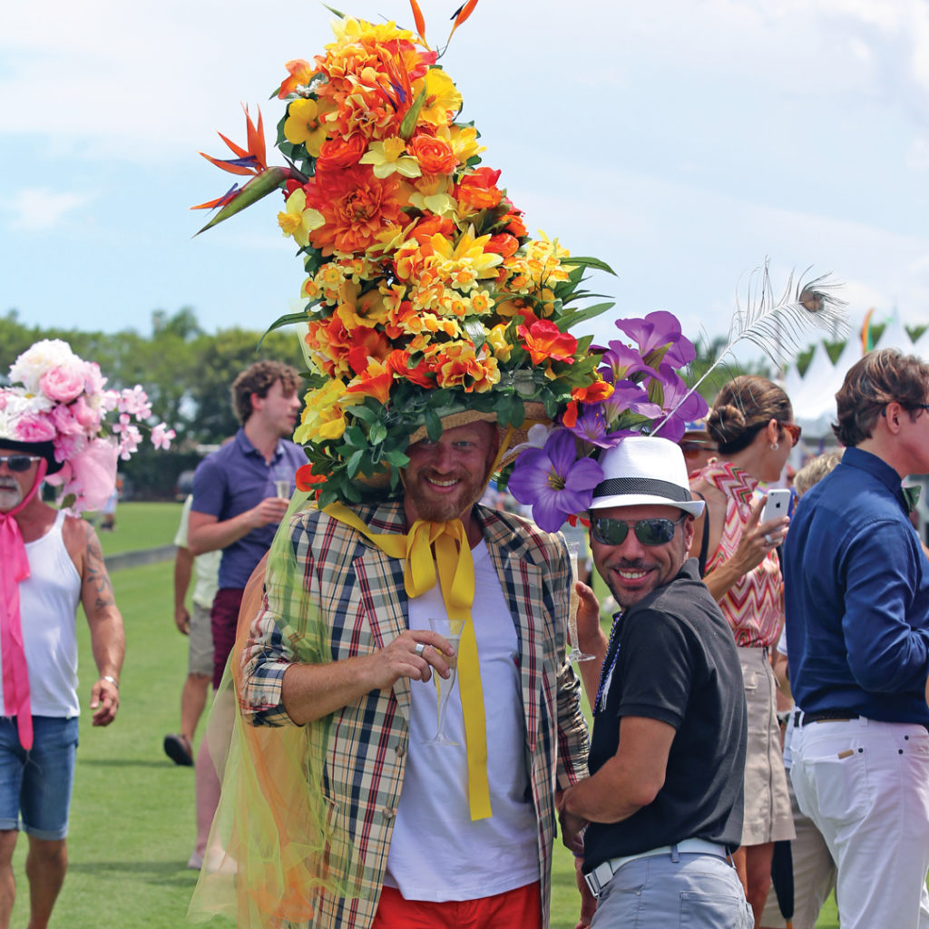 Revelers leave day-to-day stress behind and take a tongue-in-cheek approach to dressing for the annual Gay Polo Tournament