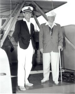 A black and white photo from the earlier days of Little Palm Island.